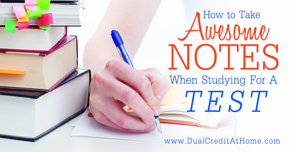 How to Take Awesome Notes When Studying for an Exam