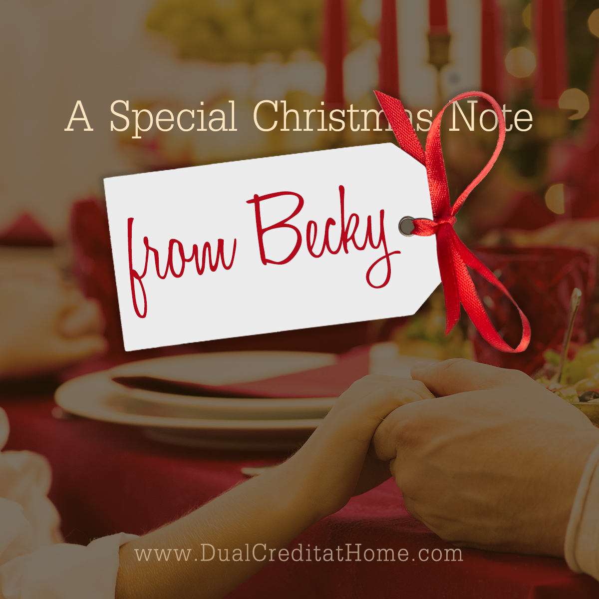 A Special Christmas Note from Becky