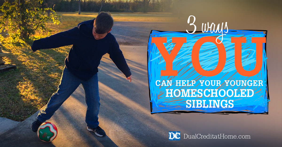 3 Ways You Can Help Your Younger Homeschooled Siblings