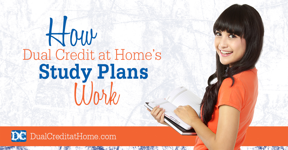 How Dual Credit at Home's Study Plans Work