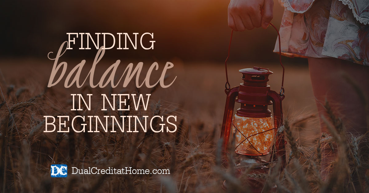 Finding Balance In New Beginnings