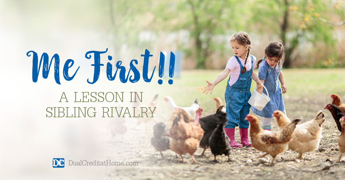 Me First!! A Lesson in Sibling Rivalry