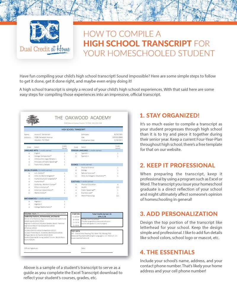 Free Transcript Download