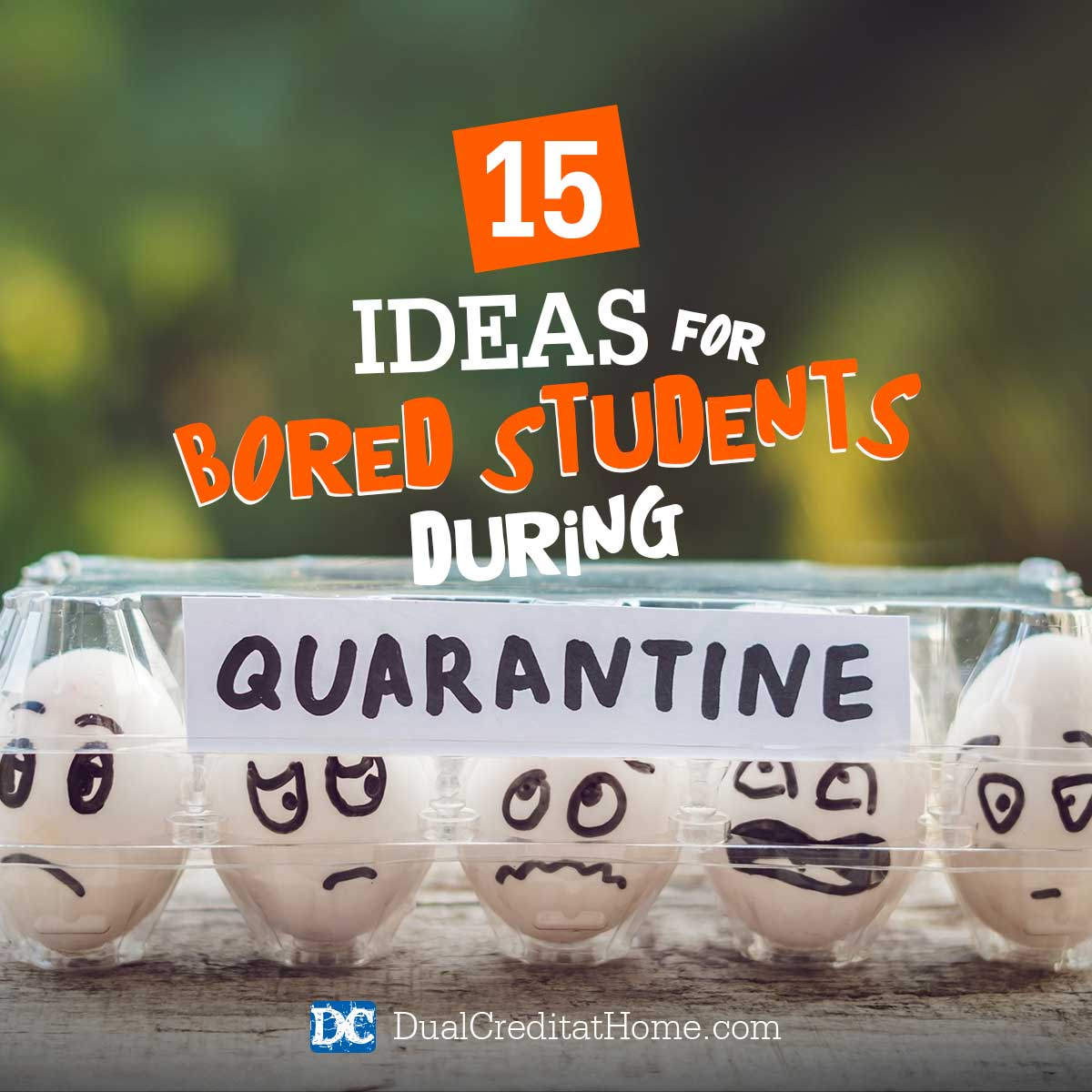 15 Ideas for Bored Students During Quarantine