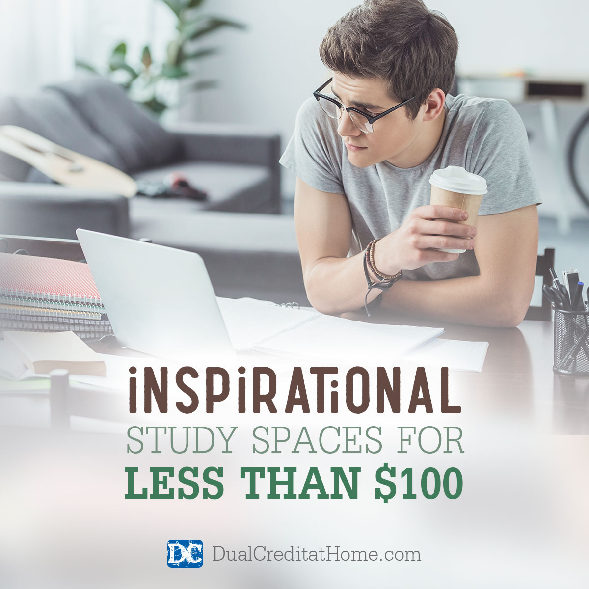 Inspirational Study Spaces for Less Than $100