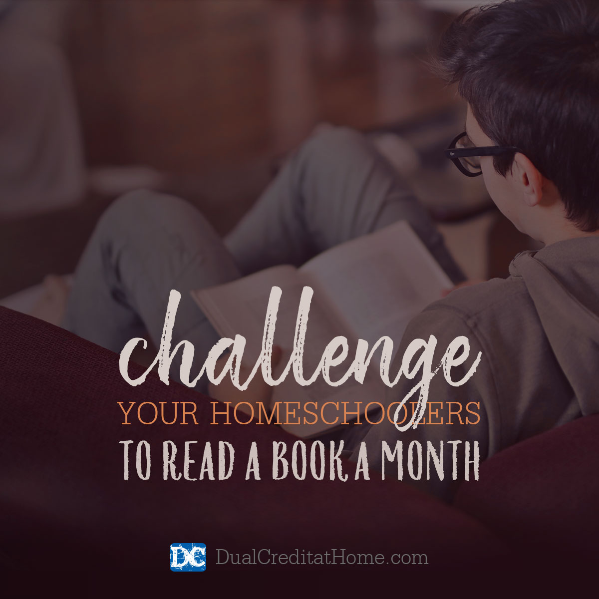 Challenge Your Homeschoolers to Read a Book a Month